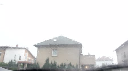 повреждение : Hailstones downpour with massive rainfall. Hails destroying everything in its path. Some cars protected from hails. Inside of car point of view, scary sound of hails dropping on roof and windshield. Check my profile for more hailstone clips.