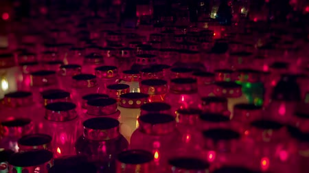 céu : Beauty shot of Graveyard Candles at night