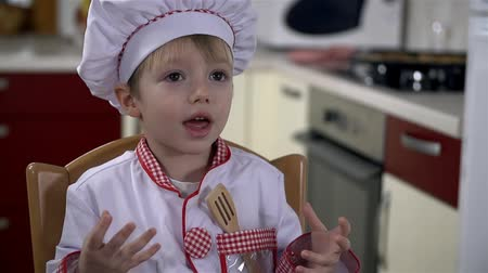cooks : Little cook Stock Footage
