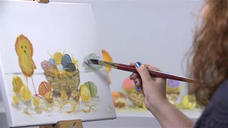 artistas : Coloring Canvas with Easter Day Decoration