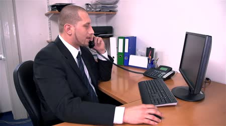 small businessman : Man Only Listening To Yelling on The Phone