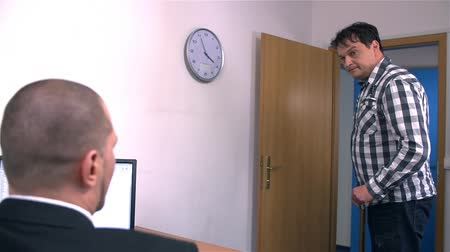 boss : Boss At Office Showing Worker to Complete Job Fast