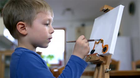 sen : Child Dream Of Motorcycle Drawing On Canvas
