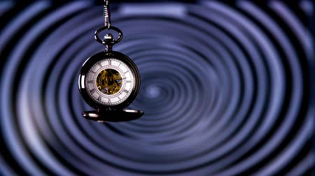 hipnoza : Pocket Watch Clock Hypnosis. Antique pocket clock with hypnosis background.