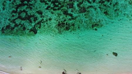sicília : Aerial view of the tropical sea with turquoise water. Top view