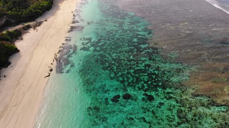 sicília : Aerial view with sand beach with turquoise ocean in Bali