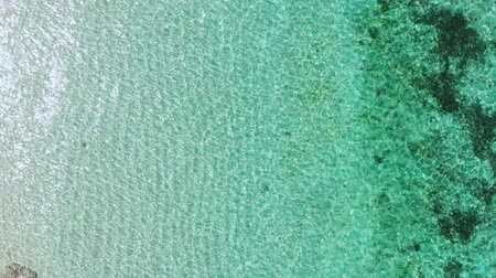 sicília : Aerial view of tropical beach with turquoise ocean water. Top view