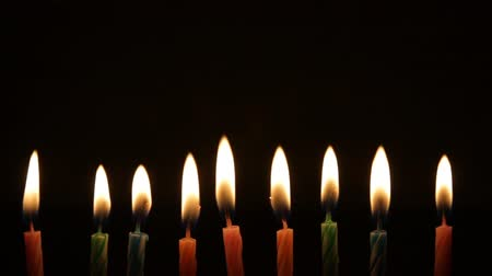 gyertyák : candle birthday with fire extinguish by wind