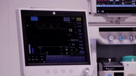 pacemaker : Cardiac_monitor_4  Medical equipment Stock Footage
