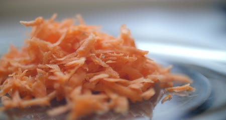 picado : Chopped carrot closeup