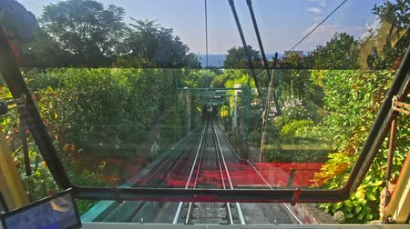 amalfi coast : Capri funicular cable car Italy Stock Footage