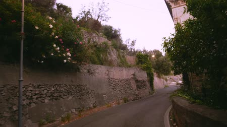 amalfitana : Mountain road in Amalfi Italy Stock Footage