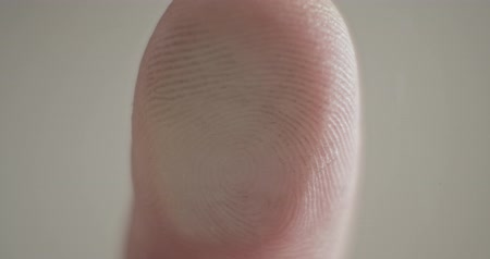 evidência : Fingerprints scanner close up Stock Footage