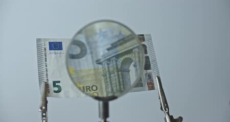5 eur bank note investigation, CSI currency.