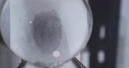individualidade : Fingerprint investigation close up CSI