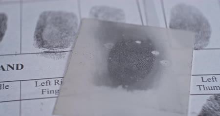 罰 : Fingerprint investigation close up CSI