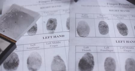 impressão digital : Fingerprint investigation close up CSI