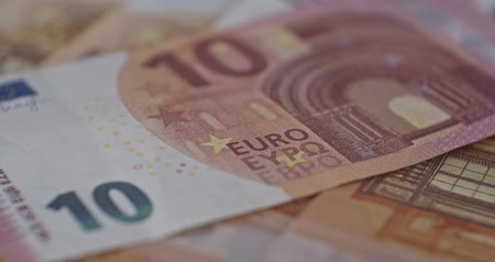 10 euro banknote close-up EUR currency