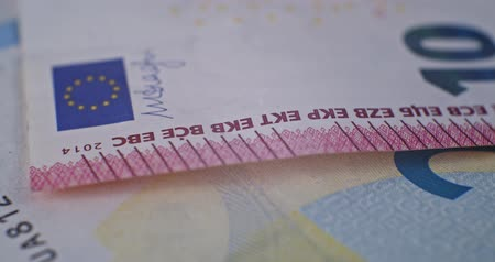 eur : 10 euro banknote details close-up EUR currency