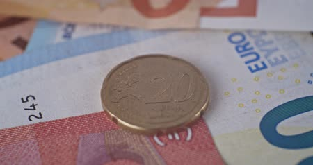 20 eur cent coin abverse close up