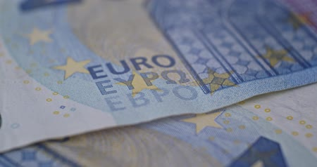 20 euro banknote details close-up EUR currency