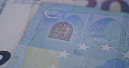 eur : 20 euro banknote details close-up EUR currency