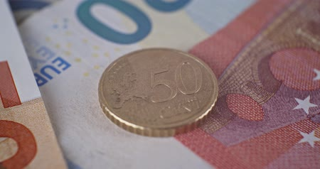 50 eur cent coin abverse close up