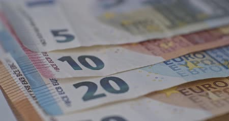 eur : Euro banknotes close-up EUR currency