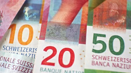 criminology : CHF investigation close up, swiss francs, Switzerland