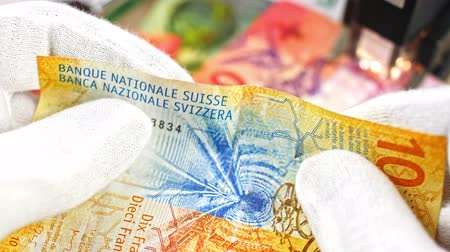opsporing : CHF investigation close up, swiss francs, Switzerland