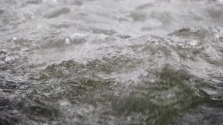 limpid : flowing water in the river. Stock Footage