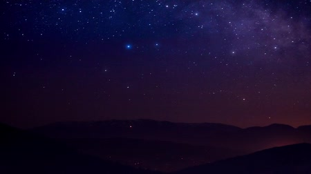 estrela : traces of stars against the night sky, shot long exposure.