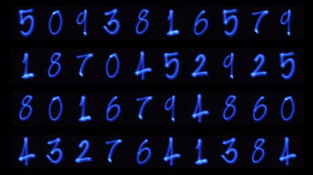bolso : counting light numbers Stock Footage