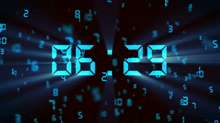 minute : falling digital countdown Stock Footage