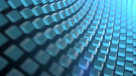 blue cube waves Stock Footage