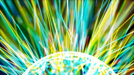 orb with colorful lines Stock Footage