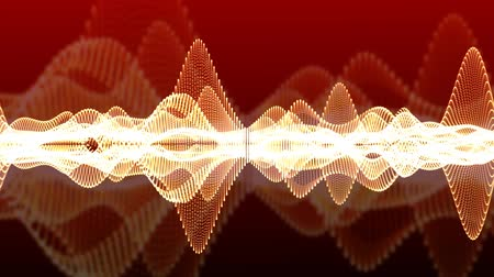 red sine wave visualization Stock Footage