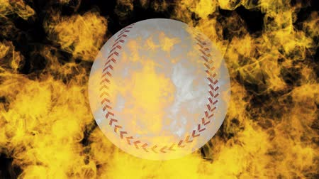 beisebol : baseball on fire Stock Footage