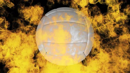 volleyball : volleyball on fire