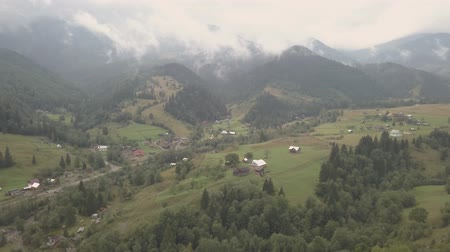 vysílač : Aerial top view other summer carpathian mountains near by Dzembronya village, Ukraine Dostupné videozáznamy