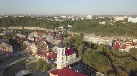 opevnění : Aerial view of historic city of Kamianets-Podilskyi, Ukraine.
