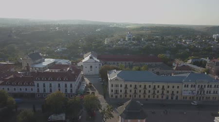 bastião : Aerial view of historic city of Kamianets-Podilskyi, Ukraine.