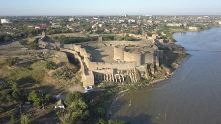 alba : Aerial view on the citadel of the ancient fortress Akkerman which is on the bank of the Dniester estuary, in Odessa region.