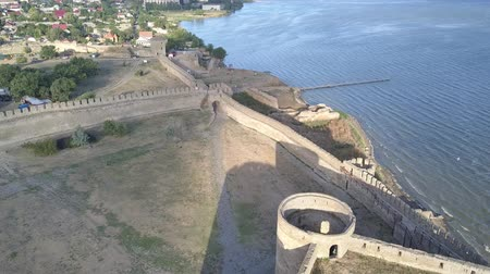 замок : Aerial view on the citadel of the ancient fortress Akkerman which is on the bank of the Dniester estuary, in Odessa region.
