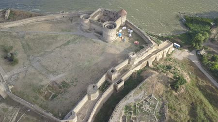 alba : Aerial view on citadel of the ancient fortress Akkerman which is on the bank of the Dniester estuary, in Odessa region, Ukraine