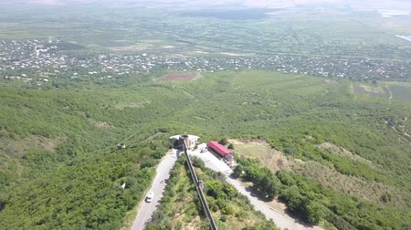 régiók : Aerial view to Sighnaghi city region of Kakheti. Important center of Georgia tourist industry. Alazani valley in Georgia.