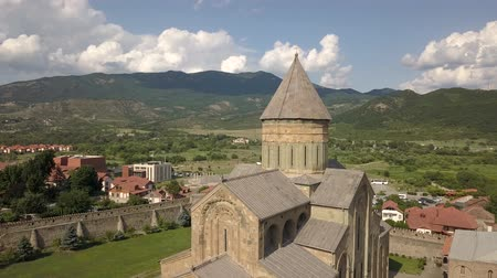 Aerial view to Mtskheta, near Tbilisi, Georgia Wideo