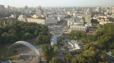 philharmonic : Philharmonic, Khreshchatyk street and European Square in Kyiv, Ukraine