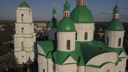 bem aventurança : Blessed Virgin in Kozelets, Chernihiv region, Ukraine Stock Footage