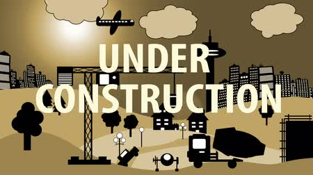 truck crane : Construction Site Cartoon